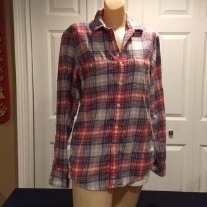 J Crew flannel slim fit shirt size small